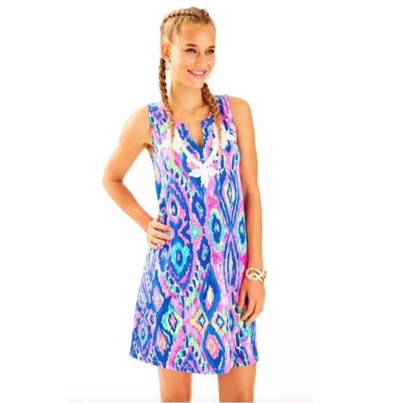 8e22a98b883e5 Lilly Pulitzer Dresses   Gemma Swing Dress Pink White Blue   Poshmark